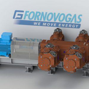 Skid DA500 reciprocating Compressor