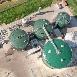 View from above of the New Plant of ADVANCED BIOMETHANE